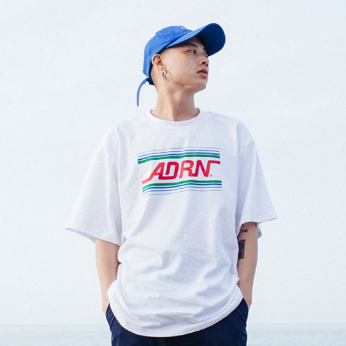 [Double adrenaline syndrome][남녀공용]ADRN line logo tee - white