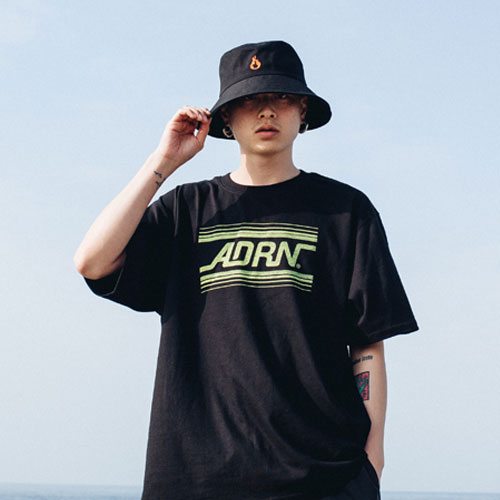 [Double adrenaline syndrome][남녀공용]ADRN line logo tee - black