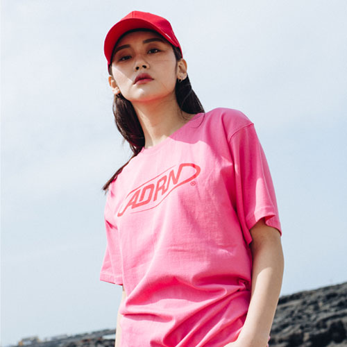 [Double adrenaline syndrome][여성]ADRN logo tee - pink
