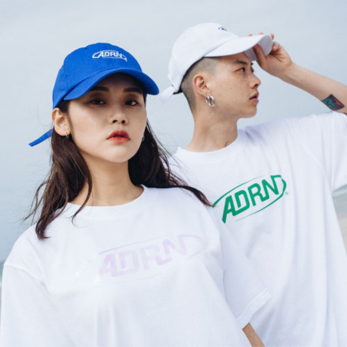 [Double adrenaline syndrome][여성]ADRN logo tee - white