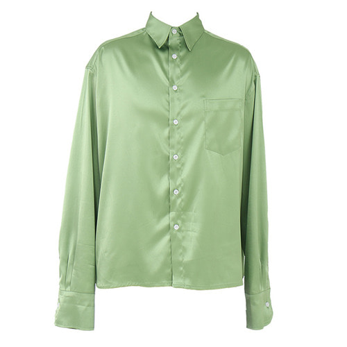 [COUPDEGRACE] CDG SILKY POLY SHIRT (APPLE GREEN)