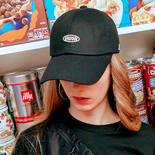 [Unionobject] Union Basic Logo Ballcap - Black