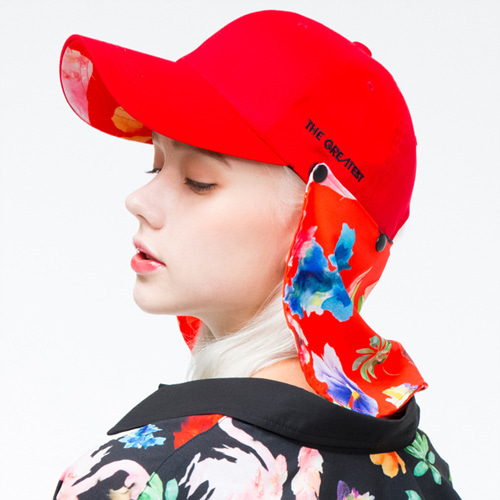 [THE GREATEST] GT 18SUMMER 07  FLOWER BALLCAP RED