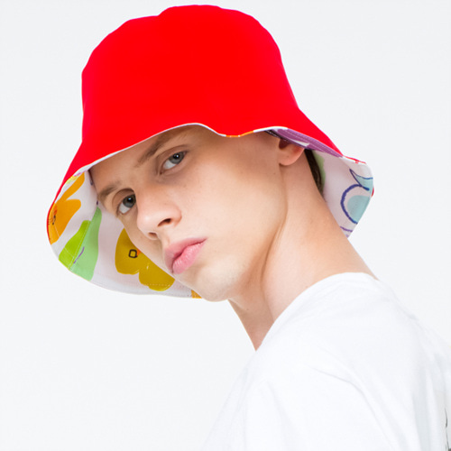 [THE GREATEST]GT 18SUMMER 08  HEART BUCKET HAT RED