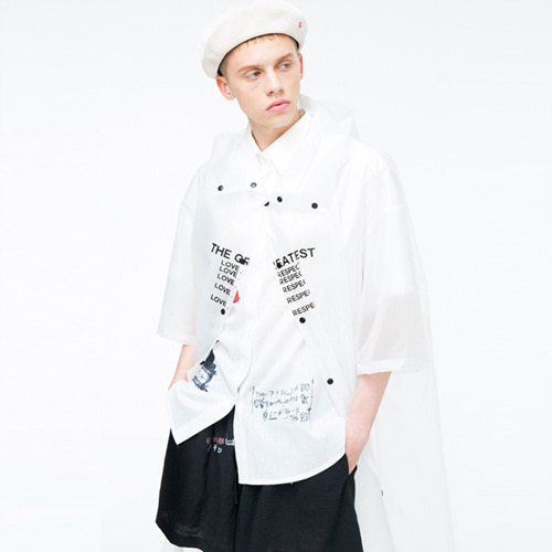 [THE GREATEST] GT 18SUMMER 09 LETTERING RAIN COAT