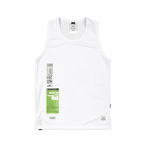 [STIGMA]IMMIGRATION COOLON SLEEVELESS - WHITE
