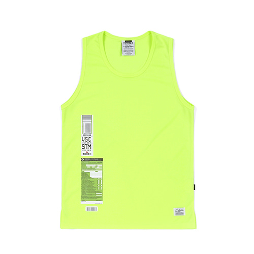 [STIGMA]IMMIGRATION COOLON SLEEVELESS - NEON GREEN