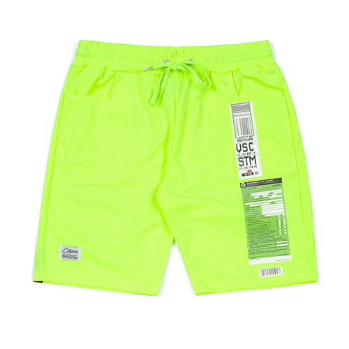 [STIGMA]IMMIGRATION COOLON SHORT PANTS - NEON GREEN