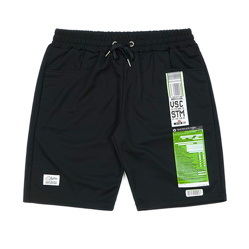 [STIGMA]IMMIGRATION COOLON SHORT PANTS - BLACK