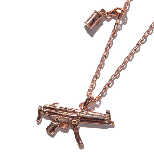 [KRUCHI] Mp5 & M18 smoke necklace (silver,14k pink gold plated)