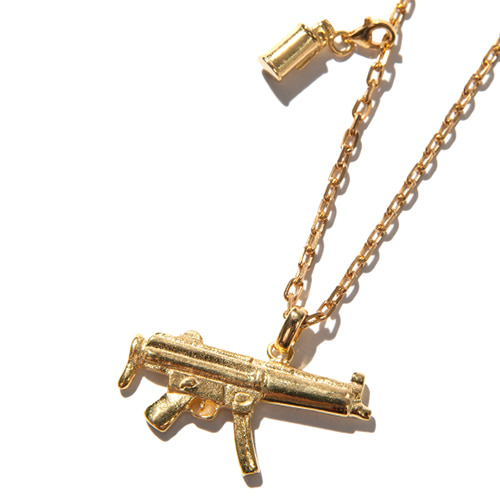 [KRUCHI] Mp5 & M18 smoke necklace (silver,14k gold plated)
