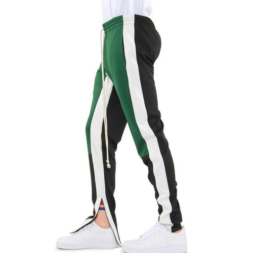 [EPTM] COLOR BLOCK TRACK PANTS (GREEN/WHITE/BLACK)
