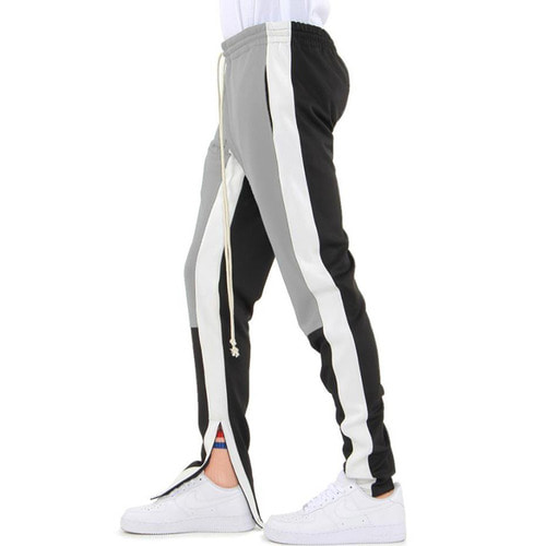 [EPTM] COLOR BLOCK TRACK PANTS (GREY/WHITE/BLACK)