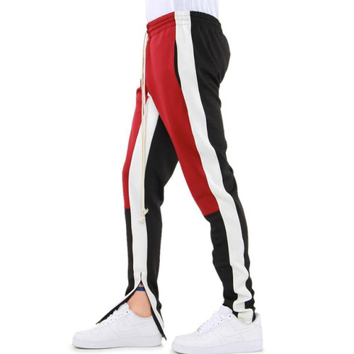[EPTM] COLOR BLOCK TRACK PANTS (RED/WHITE/BLACK)