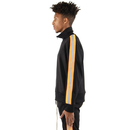 [EPTM] REFLECTIVE TRACK JACKET (BLACK/ORANGE)