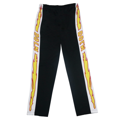 Flame line Pants Black