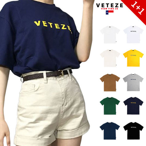 [VETEZE] [1+1] RENAS_2 T-Shirts + BASE T