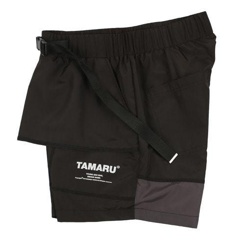 [YOMON] *TAMARU 1/2 PANTS BLACK