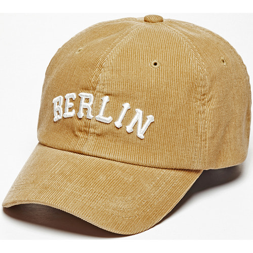 [zanimal]Berlin Corduroy Ballcap Light Beige-Light Beige