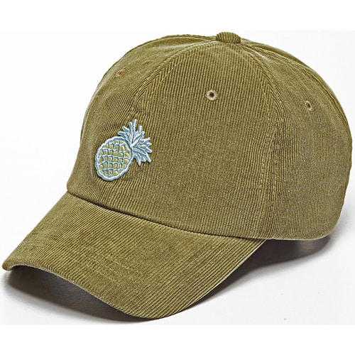 [zanimal]Pineapple Corduroy Ballcap Light Khaki- Light Khaki