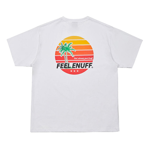 [Feel Enuff] SUNSET T-SHIRTS - WHITE