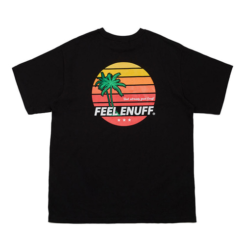 [Feel Enuff] SUNSET T-SHIRTS - BLACK