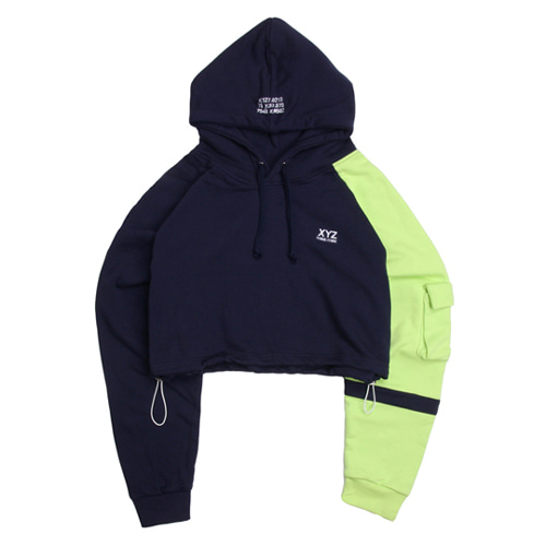[XYZ] Crop Hoody - Navy