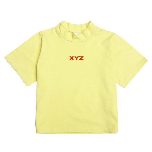 [XYZ] LOGO CROP T-SHIRT - YELLOW