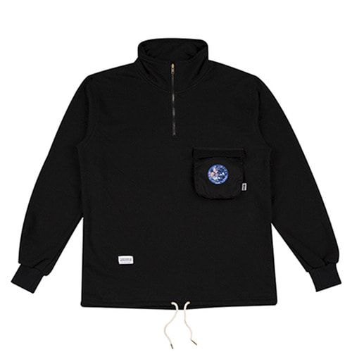 [하운드빌] 3D POCKET warm up jacket black