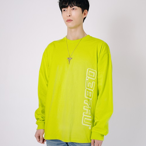 [0.387AU] Logo Long Sleeves Neon