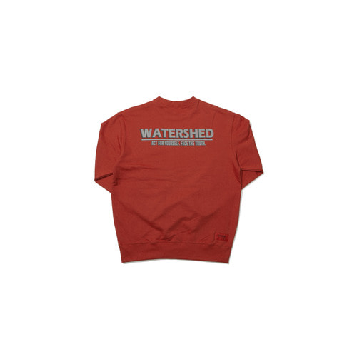 [OVERR] 18FW WATERSHED ORANGE SWEATSHIRTS