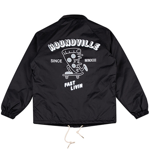 [하운드빌] FAST LIVIN coach jacket black