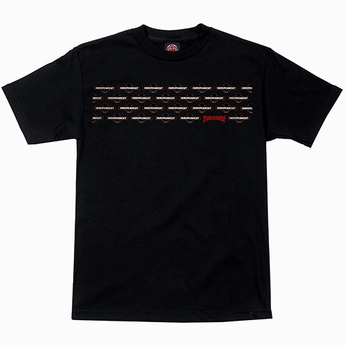 [Independent x Thrasher] Pentagram Cross S/S Regular T-shirt - Black