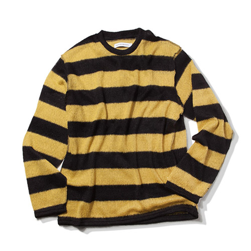 [KING] Mohair Striped Sweater-Mustard