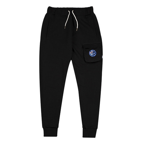 [하운드빌] 3D POCKET sweeat pant black