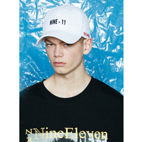 [Nine Eleven] NINE-11 logo ball cap - White