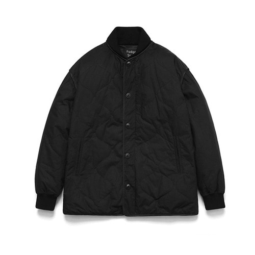 [LAFUDGESTORE] Quilting Stadium Jacket_Black