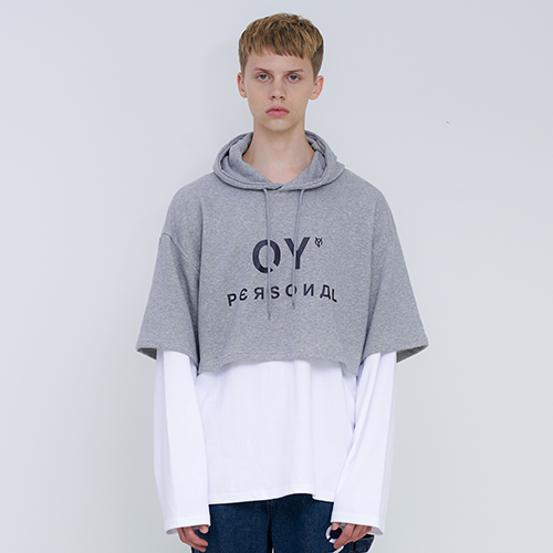 [OY] LAYERED HOODIE - GY