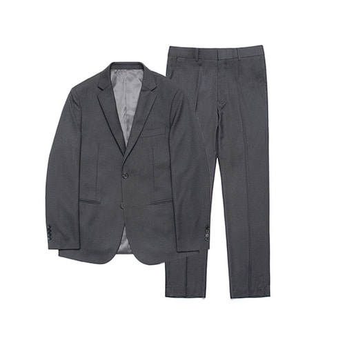 [LAFUDGESTORE] Metier Tapered Set-up Suit_Charcoal