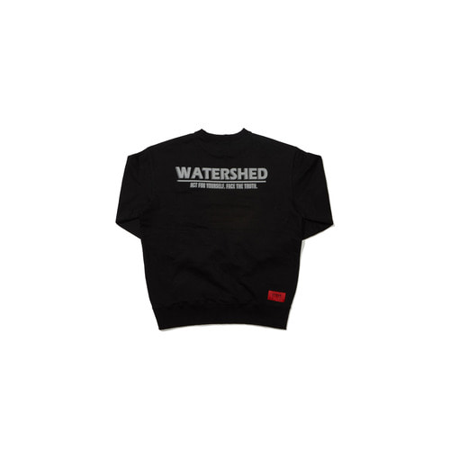 [OVERR] 18FW WATERSHED BLACK SWEATSHIRTS