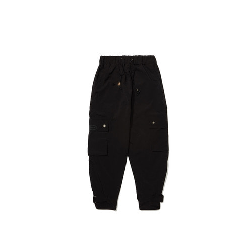 [OVERR]18FW BLACK CARGO BUCKLE PANTS