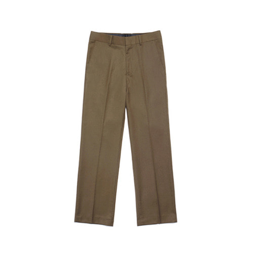 [LAFUDGESTORE] Metier Wide Wool Slacks_Brown