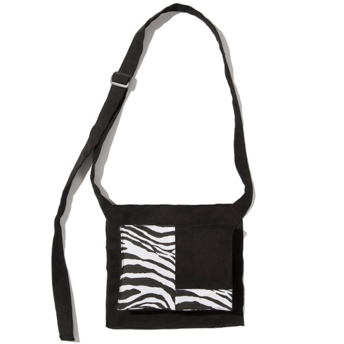[KRUCHI] Zebra Pocket bag - Black