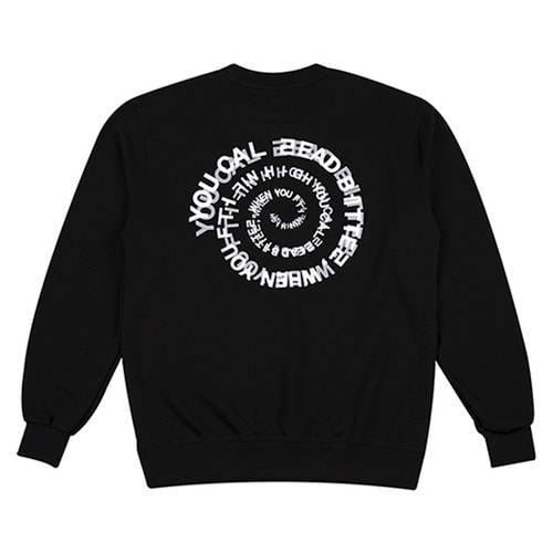 [하운드빌] ACID crewneck black