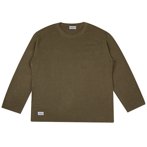 [하운드빌] LOOSE FIT knit wear khaki