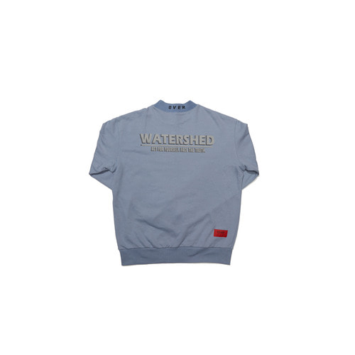 [OVERR] 18FW WATERSHED HALF BLUE SWEATSHIRTS