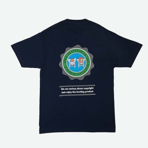 [GRAND BATTEMENT]IDLE BEACH T-shirts navy
