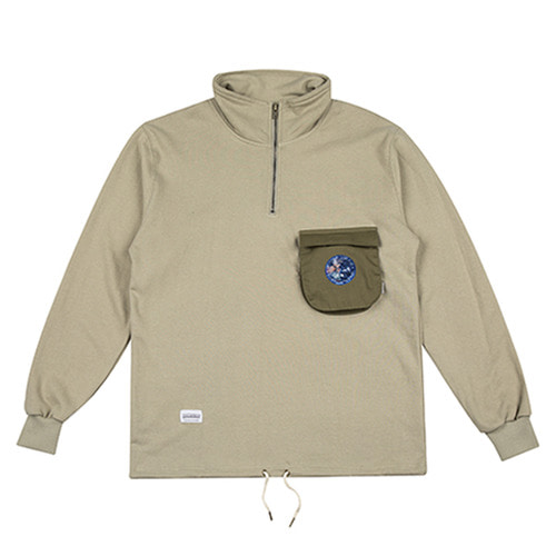 [하운드빌] 3D POCKET warm up jacket khaki
