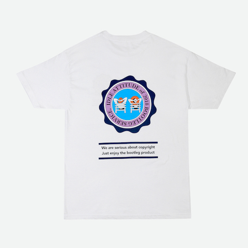 [GRAND BATTEMENT]IDLE BEACH T-shirts white