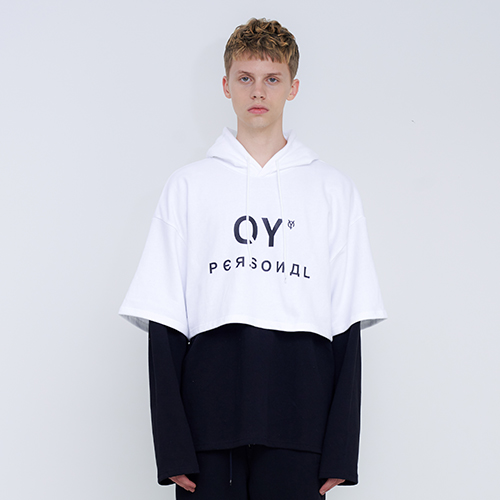 [OY] LAYERED HOODIE - WH